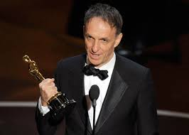 Mychael Danna accepting an Academy Award for Best Film Score, The Life of Pi, in 2013.
