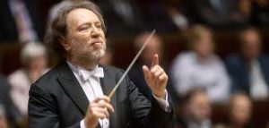 Conductor Riccardo Chailly on the podium.