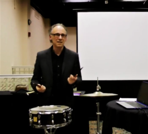 Stewart Hoffman at his 2017 NYSSMA workshop on snare drum technique