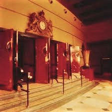 Photo of Massey Hall's enlarged Art Deco lobby.